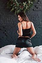 Пижама женская майка и шортики черный цвет S M L  XL, фото 3