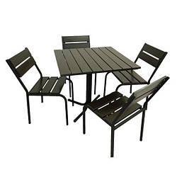 Комплект Рио венге (темный) для кафе, бара, ресторана, летней площадки, сада, дачи