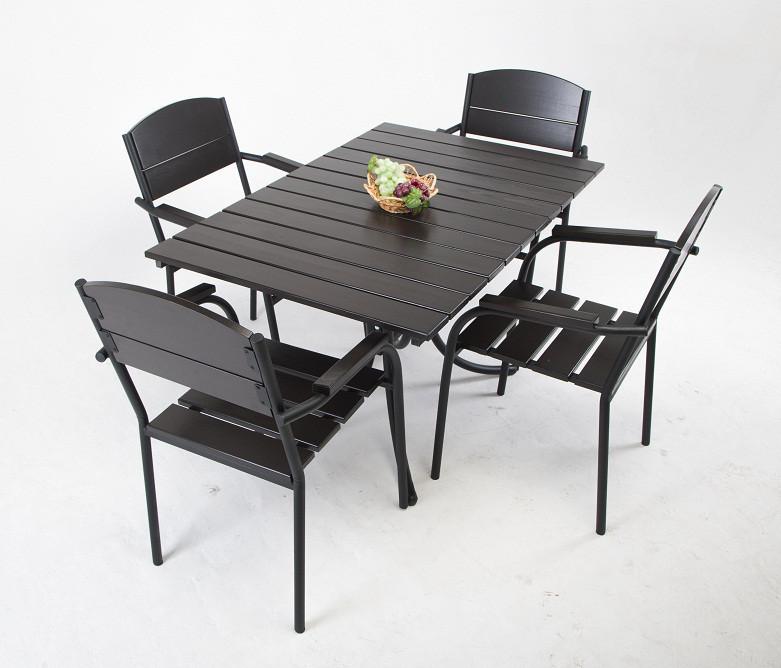 Комплект мебели «Фелиция» (стол + 4 стула)(для кафе, бара, ресторана, летней площадки, сада, дачи, в