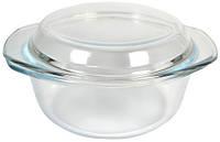 Кастрюля стеклянная круглая V=1000мл(шт)