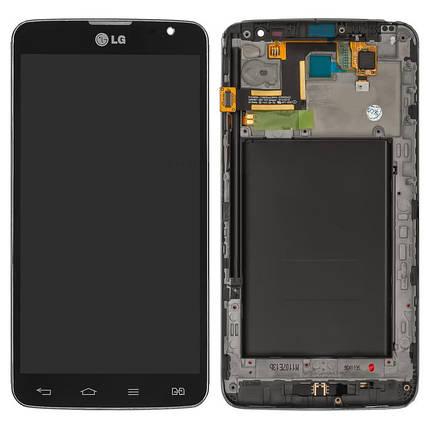 Дисплей (экран) для LG D686 G Pro Lite Dual с сенсором (тачскрином) и рамкой черный Оригинал, фото 2