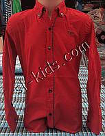 Стильная стрейчевая рубашка для мальчика 6-14 лет(бордо 01) (пр. Турция)