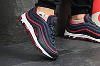 Мужские кроссовки Nike 97 - тёмно-синие с красным, фото 1