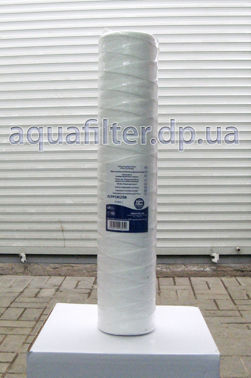 Нитяной картридж Aquafilter 5, 20 мкм FCPPM20B 20 Big Blue 20BB