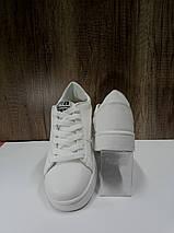 Модные женские кеды из иск. кожи SOPRA   B1105, белые, фото 2