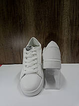 Модные женские слипоны из иск. кожи SOPRA   B1105, белые , фото 2
