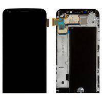 Дисплей (экран) для LG H845 G5 SE с сенсором (тачскрином) и рамкой черный Оригинал