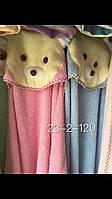 Детские махровые полотенца для купания с уголком Мишка