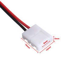 Соединительный кабель + 1 зажим для светодиодной ленты 2835\3528, 8мм