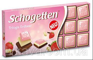 Шоколад Schogetten  Trilogia Strawberry, 100 гр, фото 2