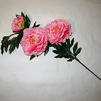 Искусственные цветы Ветка пиона (7 шт)