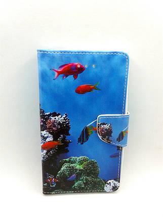 """Чехол-книжка 4you Art Print 3.5""""-4.0"""" Sea world универсальная , фото 2"""