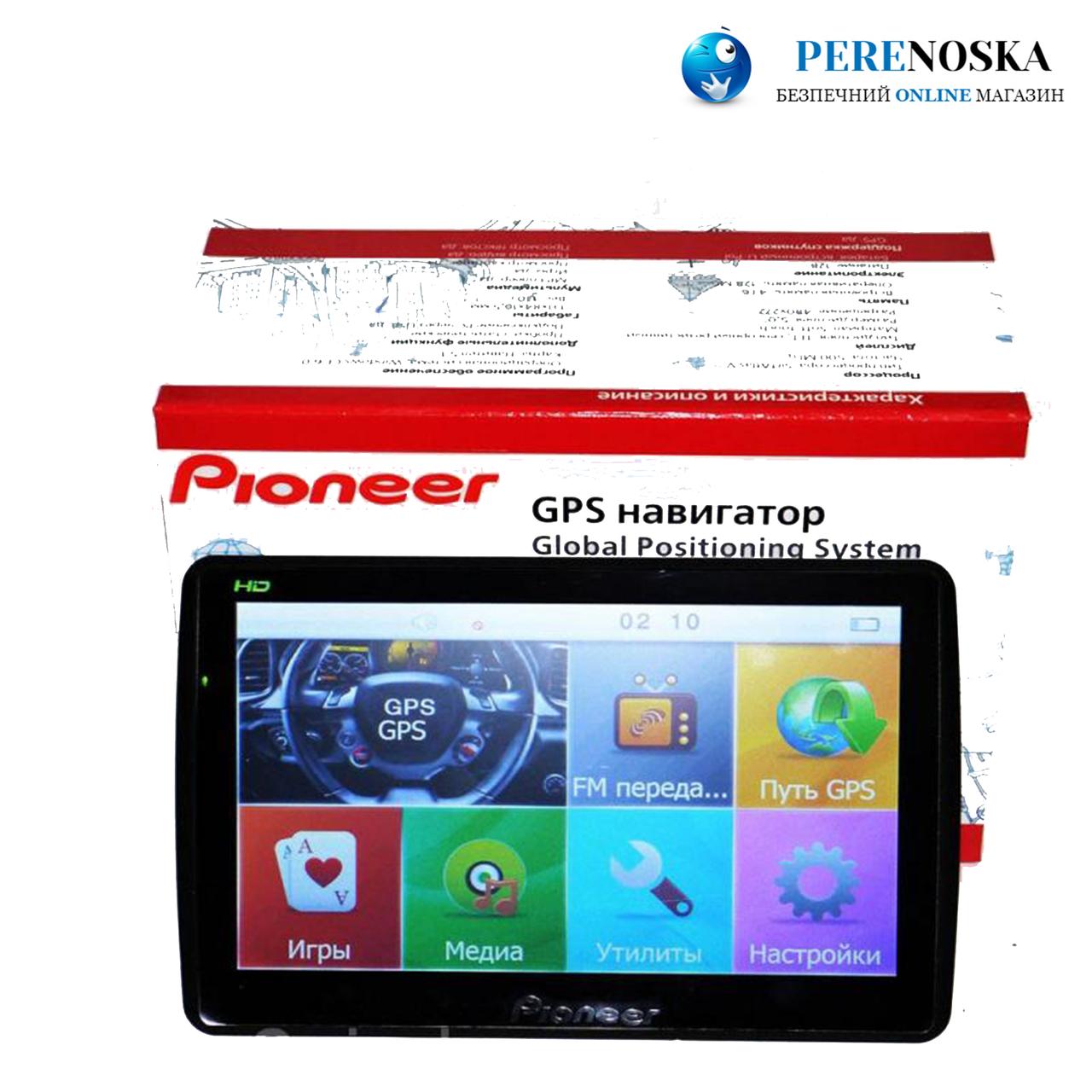 GPS навигатор Pioneer/ 7 дюймов HD/ 4Gb + FM/ Карты (IGO+Navitel)