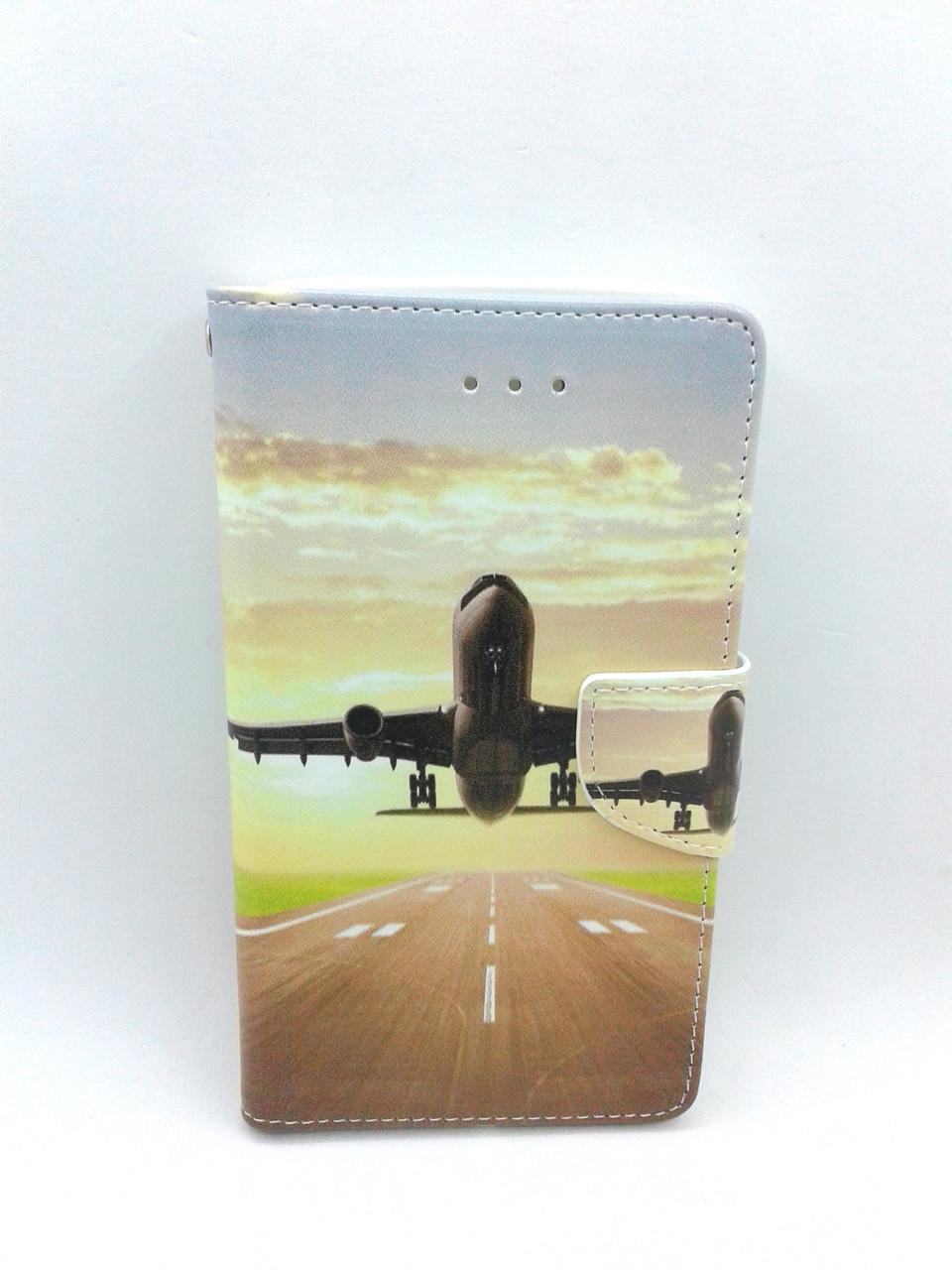 "Чехол-книжка 4you Art Print 4.9""-5.3"" Airplane универсальная"