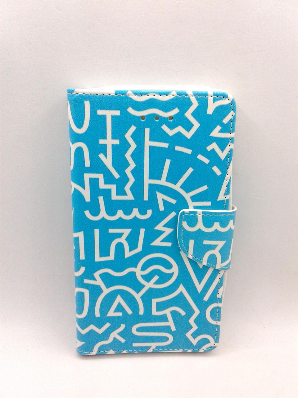 """Чехол-книжка 4you Art Print 3.5""""-4.0"""" Symbols универсальная"""