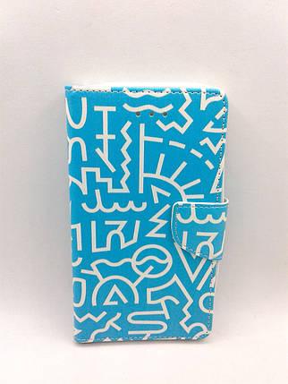 """Чехол-книжка 4you Art Print 3.5""""-4.0"""" Symbols универсальная , фото 2"""