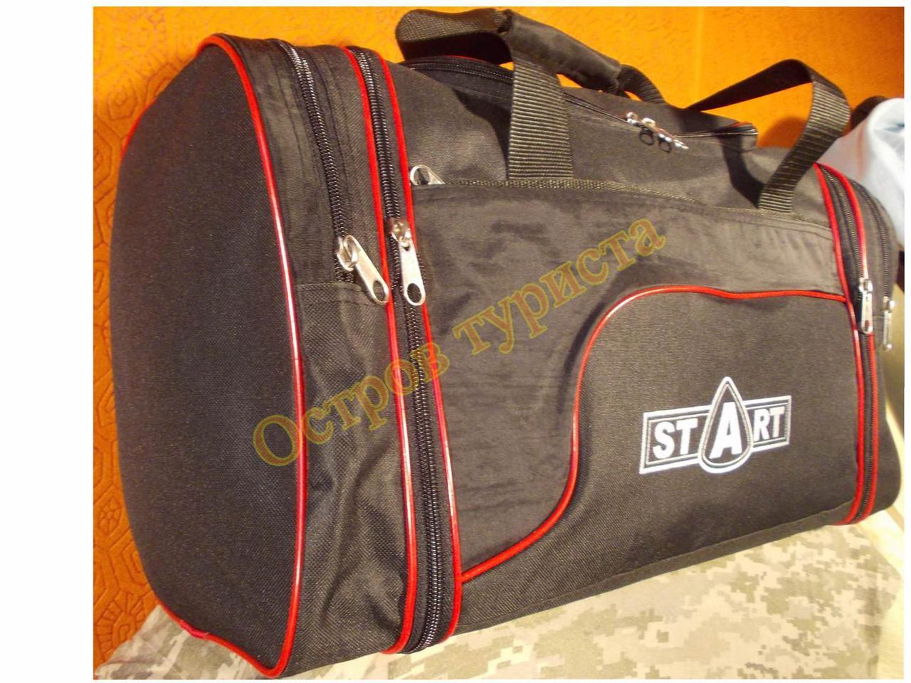 9352ffb58a2d Сумка спортивная дорожная Start 278 регулируемый объем черная с красны