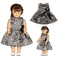 Леопарда печати куклы платье ручной работы одежда для 18inch американской девочки
