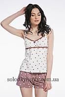Піжама ELLEN жіноча шорти+майка Молочний Шоколад 070/002