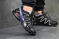 Мужские кроссовки Salomon Speedcross 3 черные с белым, фото 1