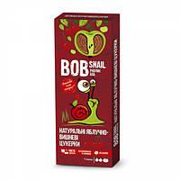 Натуральные конфеты-пастила Яблоко - Вишня  Bob Snail Равлик Боб, 30 г