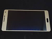 Дисплейный модуль б/у Samsung A700 Galaxy A7 Gold оригинал GH97-16922F