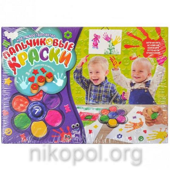 Набор пальчиковых красок РК-01-01, 7 цветов