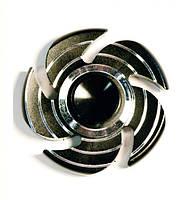 Спиннер Fidget Spinner Металлический Цветок Черный