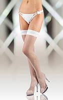 Белые чулки-сетка Stockings 5513, white, 2, 3, 4, 5