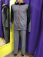 Мужской спортивный костюм  Nike т. синий с красным