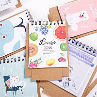 1 шт 2018 мини-мультфильм календарь симпатичный творческий милый стол календарь настольный календарь офиса Школа
