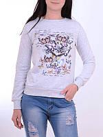 Подростковый реглан на девочек 152,158,164,170 роста Мотыльки