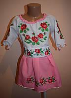 "Дитяча вишиванка ""Троянди"" рожеве"