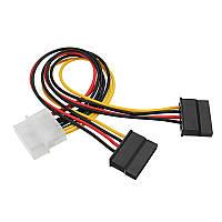4 Pin Molex IDE штекер 2 порта IDE Женский SATA кабель питания