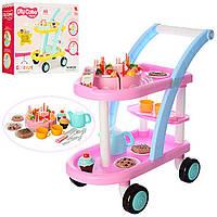 Детская развивающая  тележка с посудой и продуктами 889-15A-16A