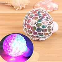 Colorful Мигающий LED Ночной свет Вентилятор для виноградного сока Мягкий антистресс Декомпрессионная игрушка