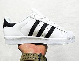 Кроссовки женские Adidas Superstar Classic топ реплика, фото 3