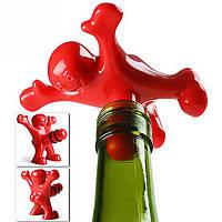 KCASA SP-003 Hot Sale 1pc Funny Happy Man Guy Wine Stopper Novelty Bar Набор Винная пробковая бутылка Plug Perky Интересные подарки
