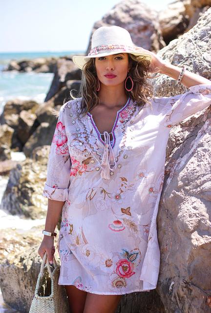 Туника пляжная женская летняя из хлопка Индиано AnastaSea 222A