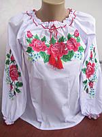 Украинская  детская вышиванка Розы на рост 128-170