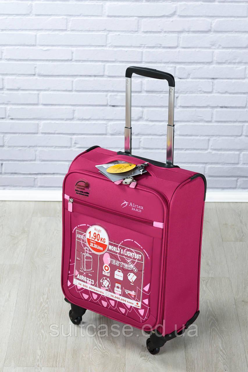 Ультра легкий тканевый чемодан под ручную кладь на 4-х кол. Airtex 6323, 1264691eb6a