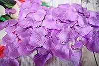 Искусственные лепестки роз. Фиолетовые лепестки роз. Шелковые лепестки.