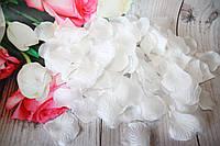 Искусственные лепестки роз. Белые лепестки роз. Шелковые лепестки., фото 1