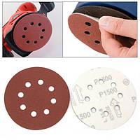 10 штук 5 дюймов 8 отверстий абразивных шкурок 1500 грит водонепроницаемый крюк и диски цикла шлифования