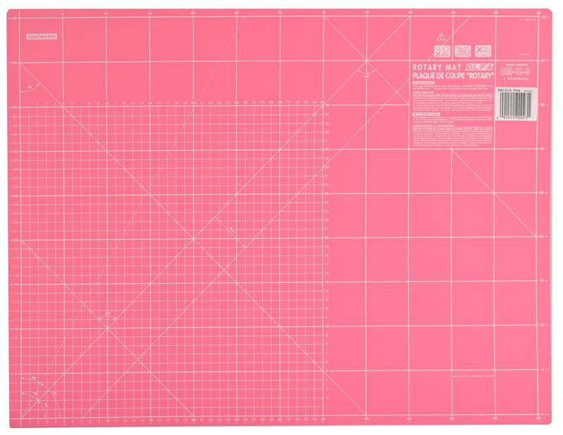 """Коврик для резки  """"OLFA"""" 450 х 600мм розовый  (арт.RM-IC-S/PINK)"""