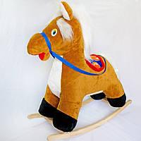 Мягкая игрушка Качалка Пони маленькая коричневая