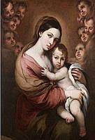 Набор алмазной живописи (квадратные, полная) Мадонна с младенцем и ангелохранители