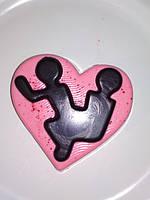 Нежное мыло сердце КАМАСУТРА 2, сексуальный подарок подружкам