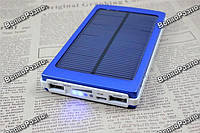 Solar power bank 30000 mAh,зарядка на солнечной батареи синего цвета