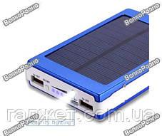 Solar power bank 30000 mAh,зарядка на солнечной батареи синего цвета, фото 2